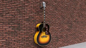 3D Gibson SJ-200 Vintage Sunburst