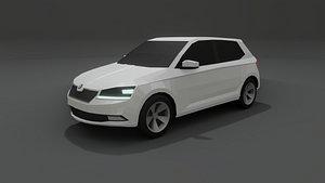 Skoda Fabia low poly 3D model 3D model