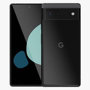 Google Pixel 6 Black 3D model