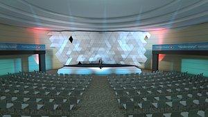 hotel meeting room 3D model