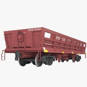 3D Railroad side dump wagon