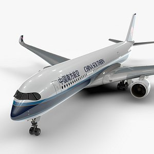 3D a350-900 china southern airlines model