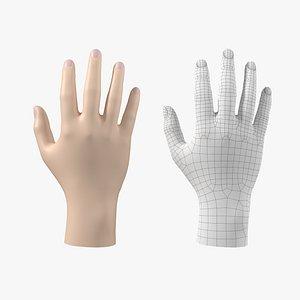 Endomorph Male Hand Base Mesh 02 3D model