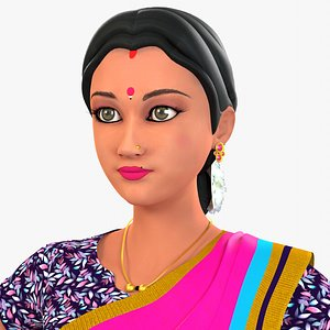 3D Indian Woman Venu
