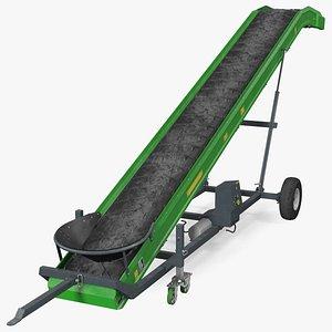 Farm Conveyor Belt System Dusty Rigged 3D