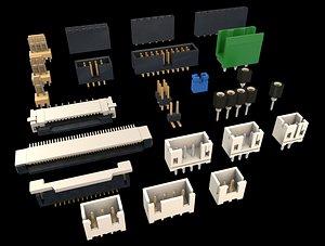 3D Electronic connectors model