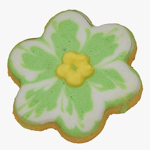 3D flower cookie 01 raw model