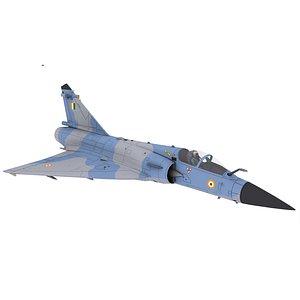 3D dessault-mirage-2000 military aircraft