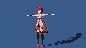 anime character 3D model