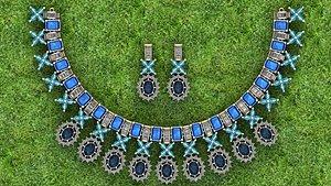 Jewellery Canadian Neckless,earring 3D model