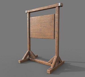 3D Wooden SignBoard A