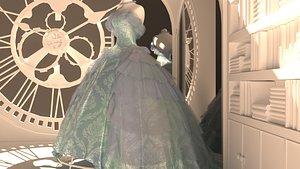3D Cenderella Bal Dress