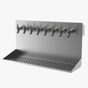 3D wall mount beer dispenser model