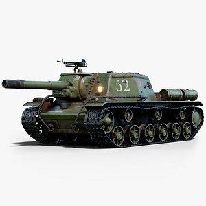 3D su 152 gameready model