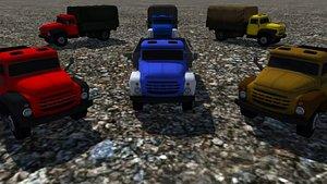 - industrial truck trailers 3D model