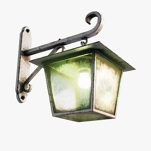 3D Antique White Rusty Wall Lamp