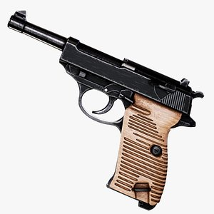 Walther P38 Pistol 3D