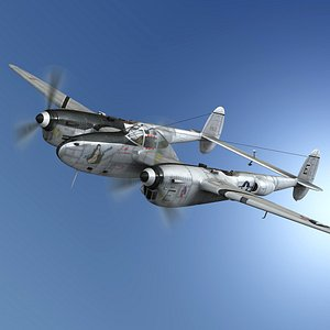 Lockheed P-38 Lightning - Jean Creamer 3D model