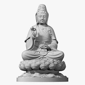 3D guanyin bodhisattva base model