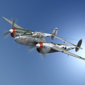 lockheed lightning - vivacious 3D model