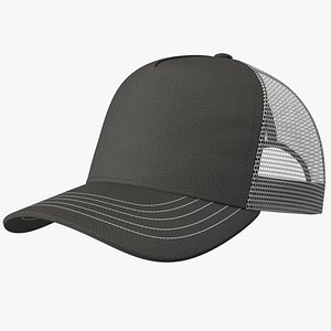 Trucker Hat Grey 3D