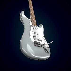 Electric guitar Homage HEG-330 3D