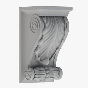Scroll Corbel 10 3D model