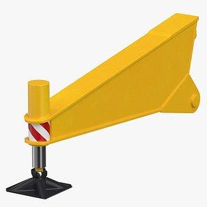 crane outrigger 01 yellow 3D