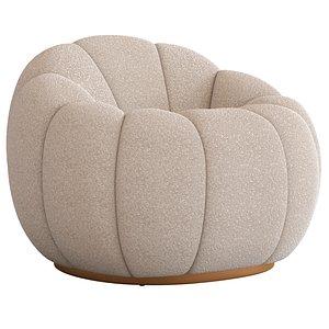 Coco Republic CR Essentials Valero Occasional Chair 3D model 3D model