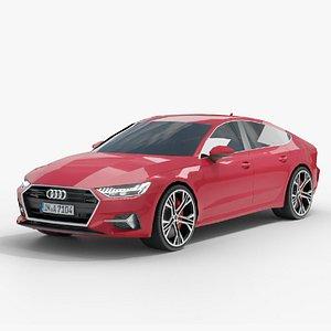 Audi A7 Low-Mid Poly 3D