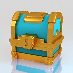 clash royale golden 3D model