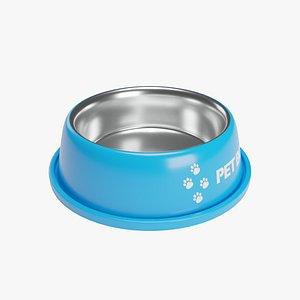 Pet Bowl Blue Metallic 3D model