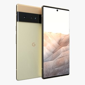Google Pixel 6 Pro Sand and Gold 3D