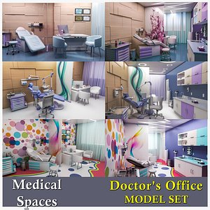 3D Doctors Office-Medical Clinics Collection