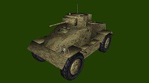 armored car aec 3D model