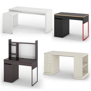 3D IKEA Desks set 2 model