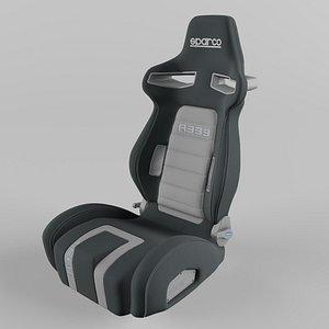 Sparco R333 Sports Racing Seat Suede Grey-Grey model