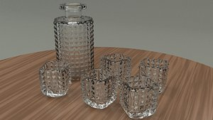 3D whiskey glasses model