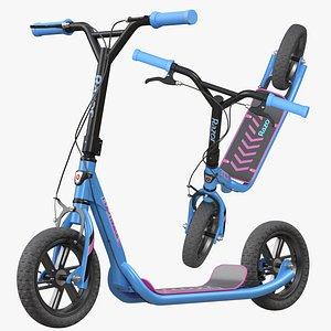 Flashback BMX Style Kick Scooter 3D model
