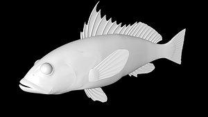 sand bass 3D model