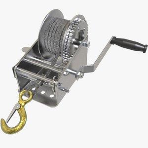 Manual Winch 3D model