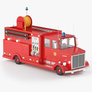 Fire Truck Cartoon model