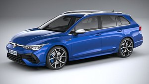 Volkswagen Golf R Estate 2022 3D model