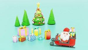 3D santa holiday christmas