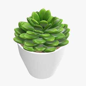 artificial cactus composition 3D