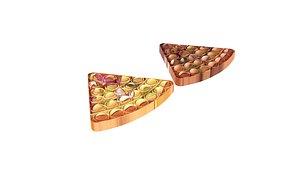 Pizza Pop It Fidget Toys Set 3D model