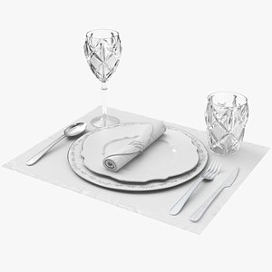 3D Tableware Set model