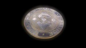 3D Binance coin BNB