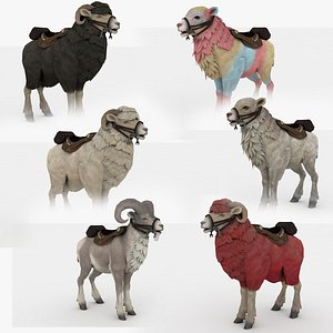Goat and Sheep Collection Rigged and Animated model