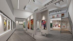 3D Modern Art Gallery 1